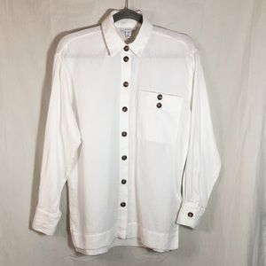 TOPSHOP 100% Cotton Button Down Blouse